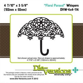 Die-Versions - Whispers - Floral Parasol