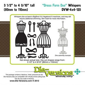 Die-Versions - Whispers - Dress Form Duo