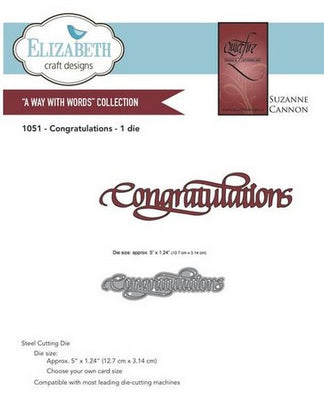 Elizabeth Craft Designs - Congratulations
