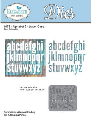 Elizabeth Craft Designs - Alphabet 2 Lower Case