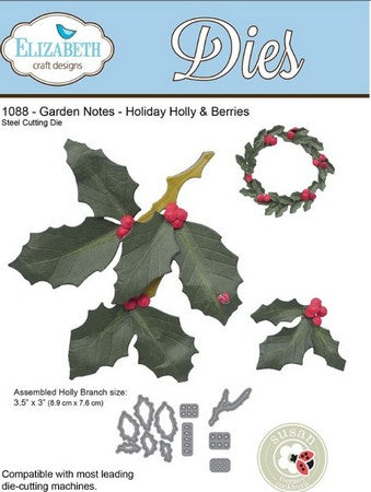 Elizabeth Craft Designs - Garden Notes - Holly Berries