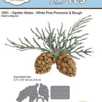 Elizabeth Craft Designs - Garden Notes - Whitepine Boughs & Pinecone