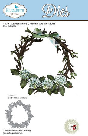 Elizabeth Craft Designs - Grapevine Wreath Round