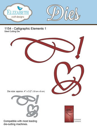 Elizabeth Craft Designs - Calligraphic Elements 1