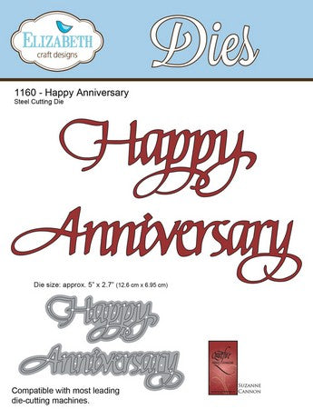 Elizabeth Craft Designs - Happy Anniversaryy