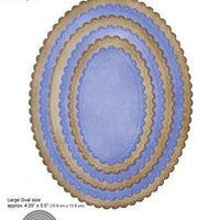 Elizabeth Craft Designs - Dies - Dotted Scallop Ovals
