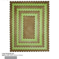 Elizabeth Craft Designs - Dies - Dotted Scallop Rectangles