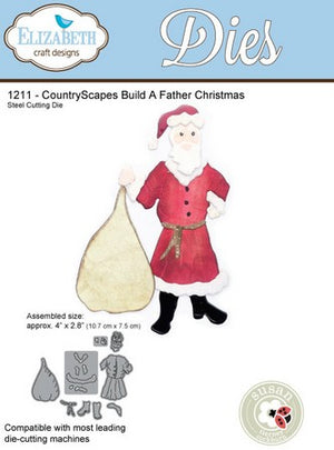 Elizabeth Craft Designs - Dies - Build A Father Christmas