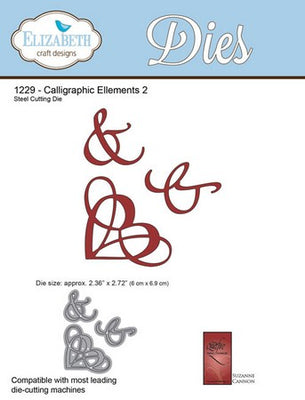 Elizabeth Craft Designs - Dies - Calligraphic Elements 2