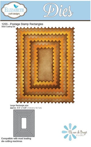 Elizabeth Craft Designs - Dies - Postage Stamp Rectangles
