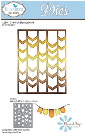 Elizabeth Craft Designs - Dies - Chevron Background