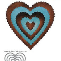 Elizabeth Craft Designs - Dies - Scalloped Hearts