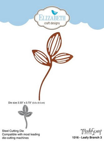 Elizabeth Craft Designs - Dies - Leafy Branch 3