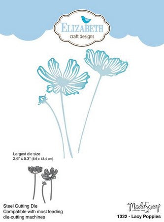 Elizabeth Craft Designs - Dies - Lacy Poppies