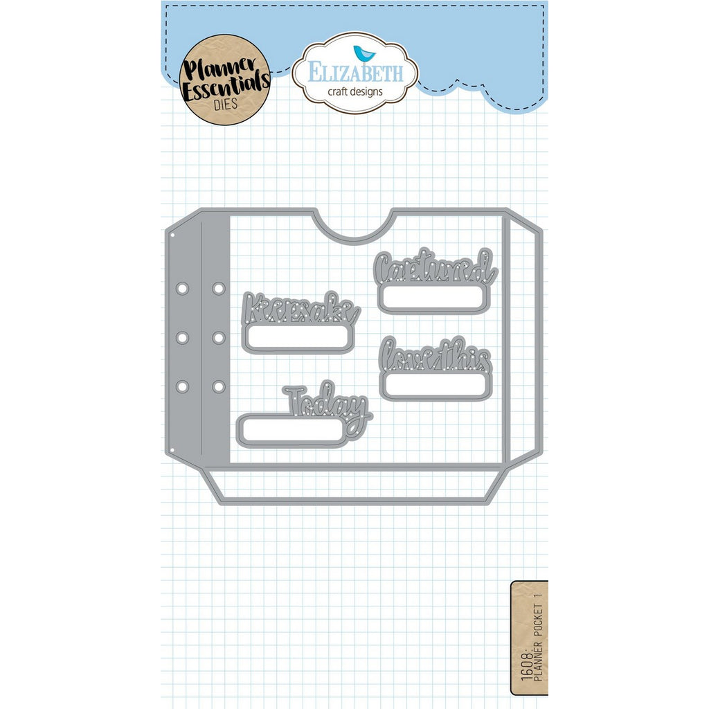 Elizabeth Craft Designs - Dies - Planner Pocket 1