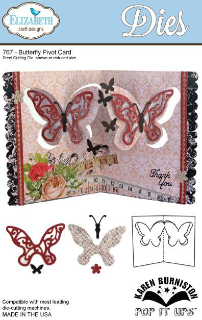 Elizabeth Craft Designs - Dies - Butterfly Pivot Card