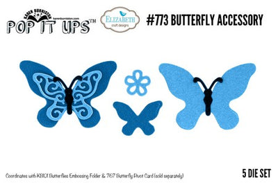 Elizabeth Craft Designs - Dies - Butterfly Accesory Die