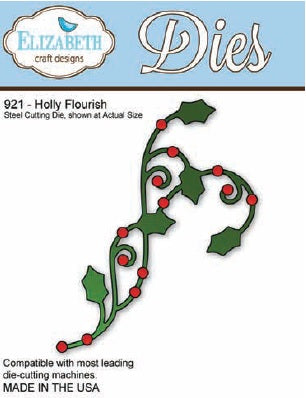 Elizabeth Craft Designs - Holly Flourish