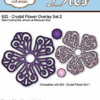 Elizabeth Craft Designs - Crystal Flower Overlay Set 2