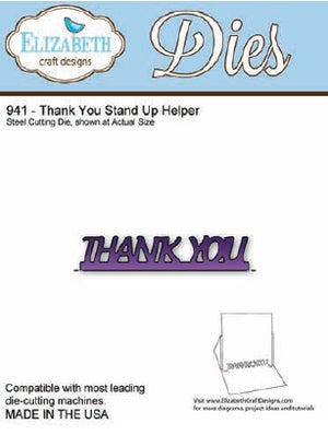 Elizabeth Craft Designs - Thank You Stand Up Helper