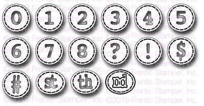 Frantic Stamper - Dies - Typewriter Keys Numbers