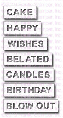 Frantic Stamper - Dies - Reverse-cut Birthday Words