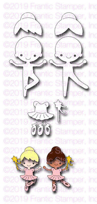 Frantic Stamper - Dies - Little Ballerinas