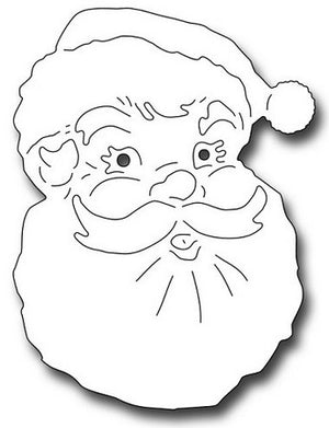 Frantic Stamper - Dies - Jolly Santa Face