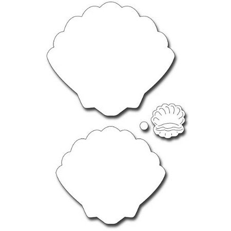 Frantic Stamper - Dies - Shell Shape, Shell, and Pearl