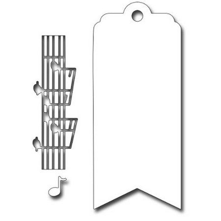 Frantic Stamper - Dies - Musical Bookmark / Tag