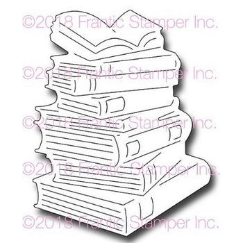 Frantic Stamper - Dies - Stack Of Books