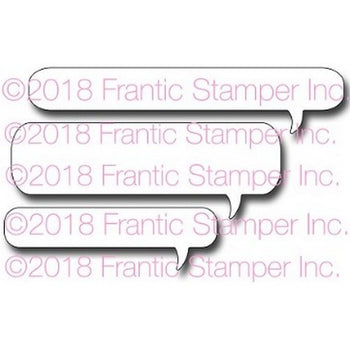 Frantic Stamper Long Speech Bubbles