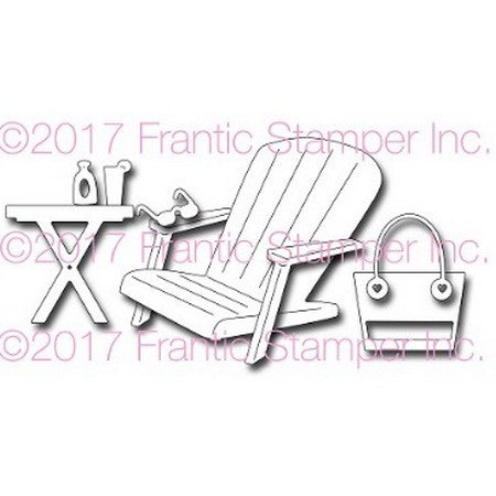 Frantic Stamper Precision Die - Adirondack Beach Chair & Accessories