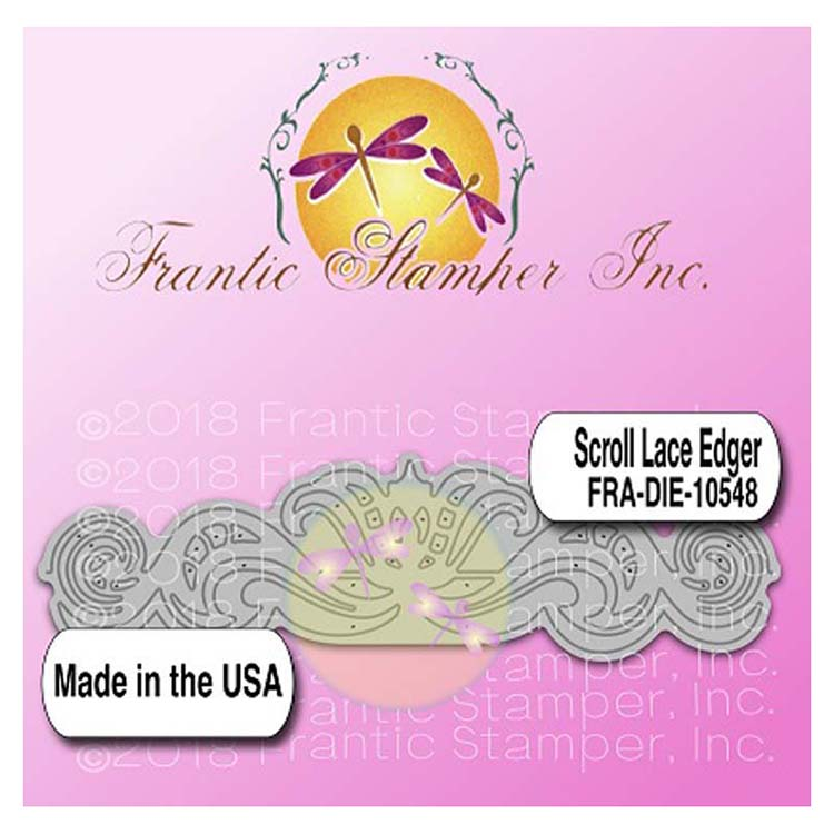 Frantic Stamper Precision Die - Scroll Lace Edger