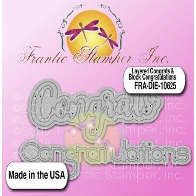 Frantic Stamper - Dies - Layered Congrats & Block Congratulations
