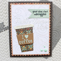 Frantic Stamper - Dies - Stitched Sweet Swirls Card Panel (ships July 29)