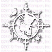 Frantic Stamper - Dies - Skeleton Ornamental Medallion