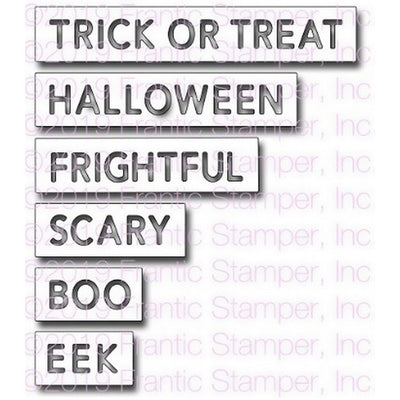 Frantic Stamper - Dies - Halloween Reverse-cut Words