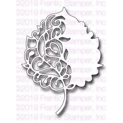 Frantic Stamper - Dies - Scroll Birch Leaf