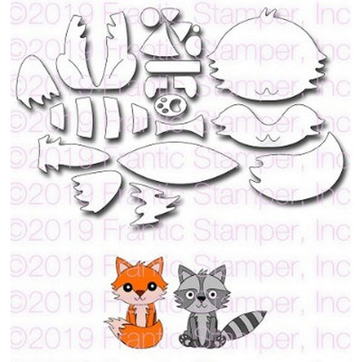 Frantic Stamper - Dies - Build A Fox & Raccoon