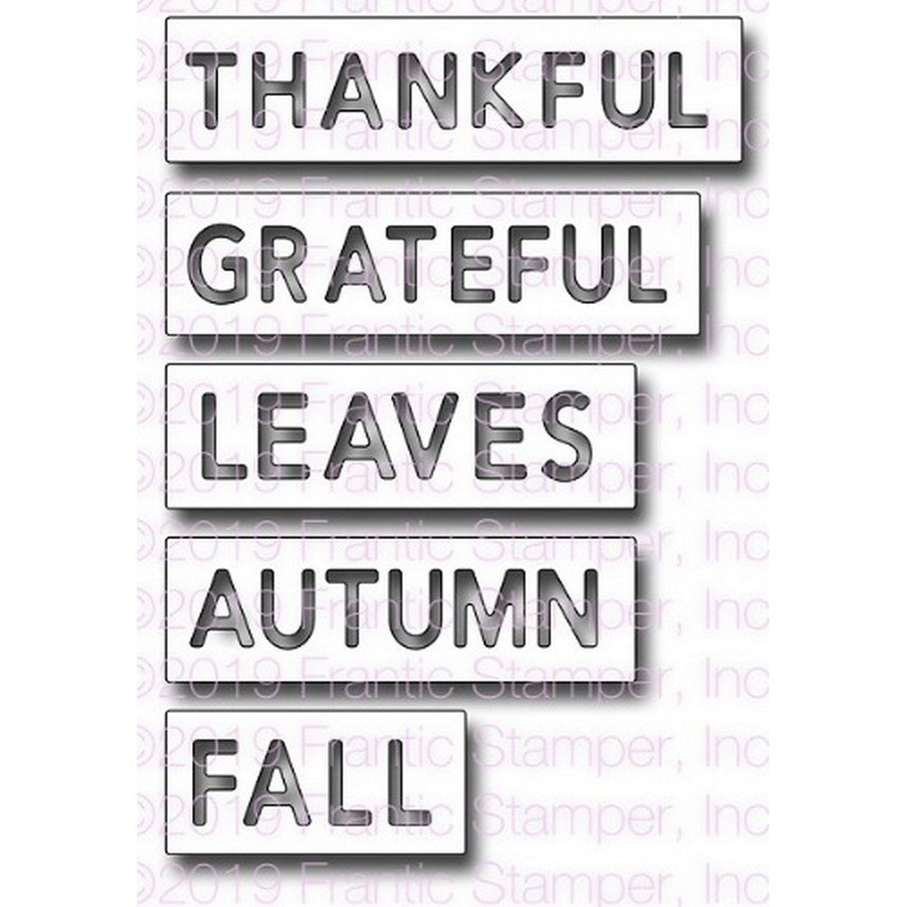 Frantic Stamper - Dies - Reverse-cut Autumn Words
