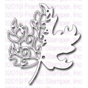 Frantic Stamper - Dies - Scroll Maple Leaf