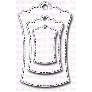 Frantic Stamper - Dies - Hourglass Scalloped Tags