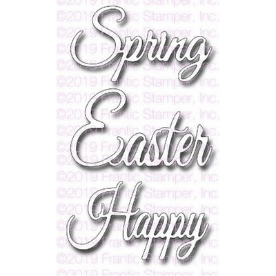 Frantic Stamper - Dies - Script Spring & Easter Greetings