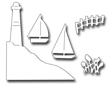 Frantic Stamper - Dies - Lighthouse & Boats