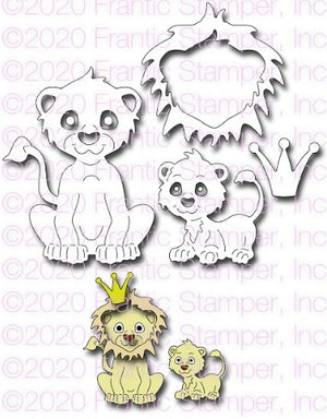Frantic Stamper - Dies - Cute Lion Family