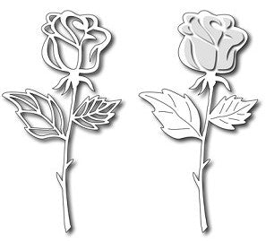 Frantic Stamper - Dies  - Long Stem Rose
