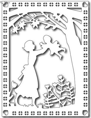 Frantic Stamper - Dies  - Mother & Child Card Panel