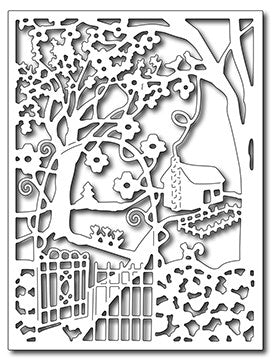 Frantic Stamper - Dies - Spring Cottage in the Wildwoods Card Panel