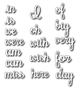 Frantic Stamper - Dies - Accessory Word Set #2